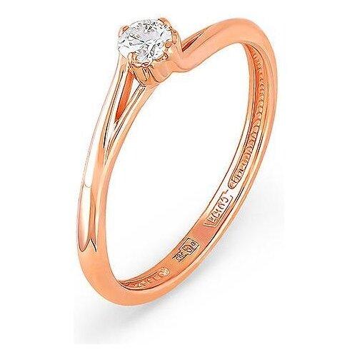 KABAROVSKY Кольцо с 1 бриллиантом из красного золота 1-0310-1000, размер 17 kabarovsky кольцо с 1 бриллиантом из красного золота 1 0336 1000 размер 16 5