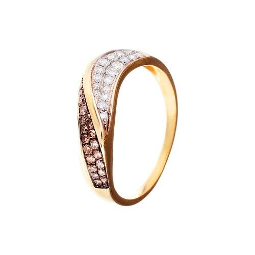 цена на JV Кольцо с бриллиантами из желтого золота R26607-DN-YG, размер 17
