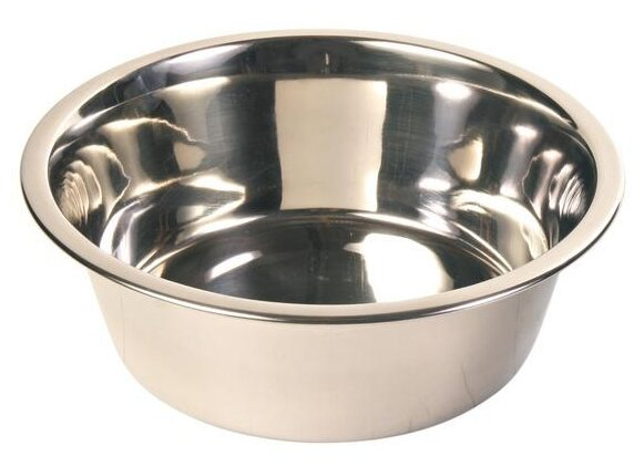 Миска TRIXIE 24841 для собак 450 мл серебристый