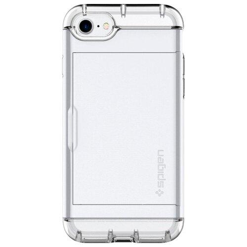 Фото - Чехол-накладка Spigen Crystal Wallet для Apple iPhone 7/iPhone 8 white чехол spigen thin fit white apple watch 4 44mm