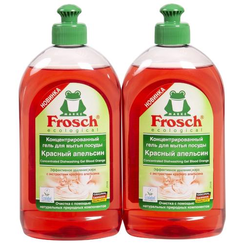 Frosch Набор гелей для мытья посуды Красный апельсин, 2 шт 0.5 л