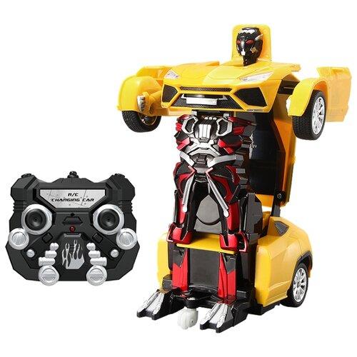 Купить Робот-трансформер Jia Qi Troopers Pioneer желтый, Роботы и трансформеры