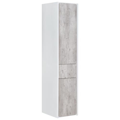 Шкаф-пенал для ванной Roca Ronda L левый, (ШхГхВ): 32х33х139 см, белый матовый/бетон