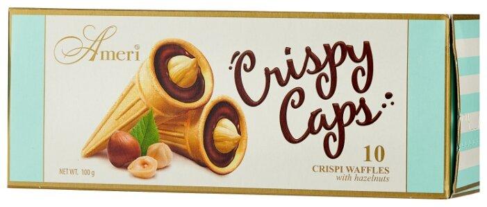 Вафельные рожки Ameri Crispy Cups с шоколадно-ореховой начинкой 100 г
