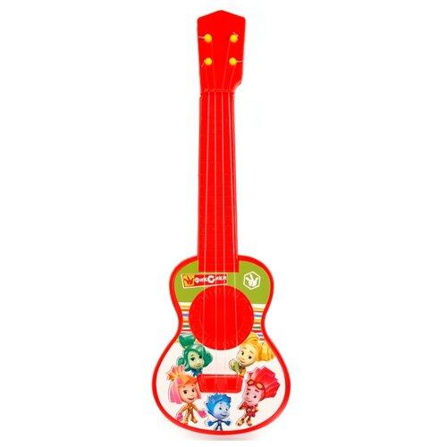 Купить Играем вместе гитара Фиксики B1632045-R1 красный/зеленый, Детские музыкальные инструменты