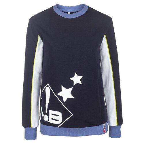 Купить Свитшот Nota Bene размер 134, темно-синий, Толстовки