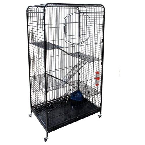 Клетка для грызунов, хорьков Triol C4-1 79х52.5х140 см черный