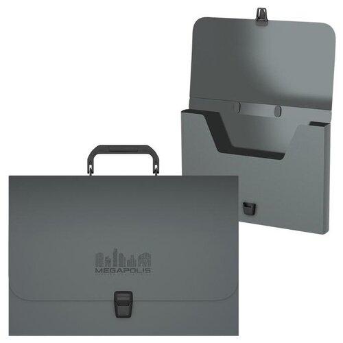 ErichKrause Портфель пластиковый MEGAPOLIS FC серый, Файлы и папки  - купить со скидкой