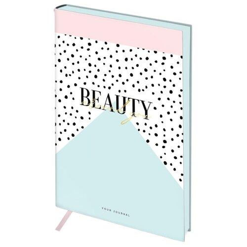 Ежедневник Greenwich Line Vision. Beauty недатированный, искусственная кожа, А5, 136 листов, белый/голубой