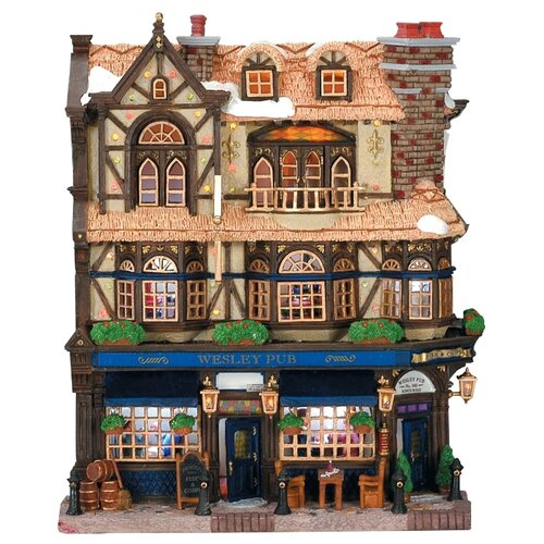 Фигурка LEMAX фасад Паб Уэсли 27 х 21.5 х 7.6 см коричневый/синий по цене 12 780