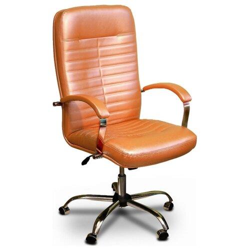 Компьютерное кресло Креслов Орман КВ-08-130112 для руководителя, обивка: искусственная кожа, цвет: персиковый кресло компьютерное креслов орман кв 08 130112 0453
