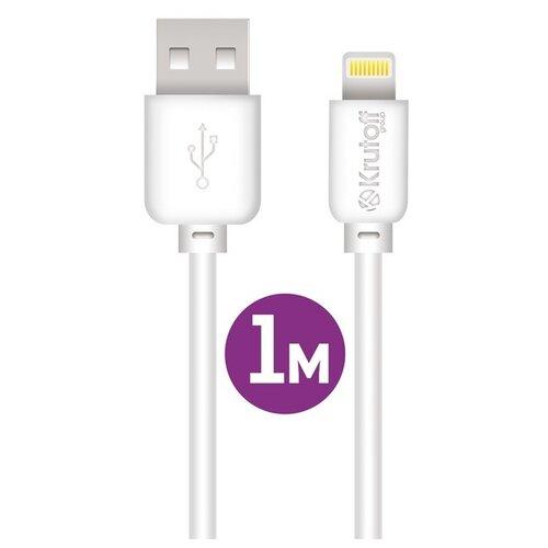 USB кабель Lightning Krutoff Classic (1m) белый