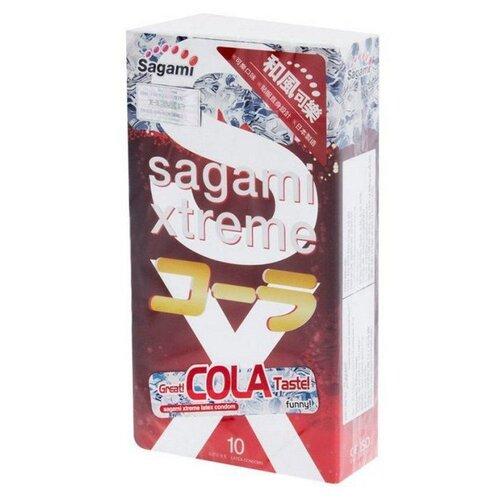 Презервативы Sagami Sagami Xtreme COLA (10 шт.) sagami 6 fit v premium 12шт презервативы супер облегающие латекс 0 06 мм
