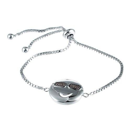 JV Браслет с фианитами из серебра SB28057-BT-001-WG, 18 см, 6.51 г jv браслет с фианитами из серебра 5252br2501 bt 001 wg 18 см 2 86 г