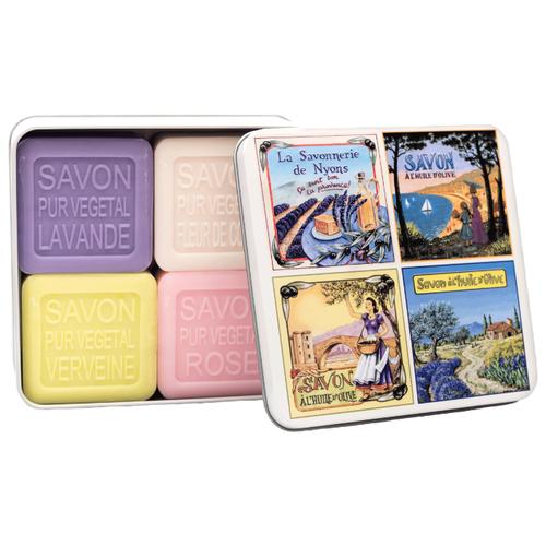 Купить Набор кускового мыла La Savonnerie de Nyons Vue De Provence, 100 г, 4 шт.