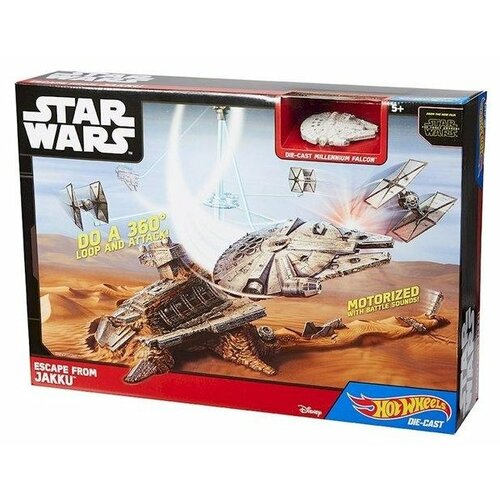 Купить Игровой набор Mattel Hot Wheels Звездные войны: Пробуждение Силы. Побег с Джакку CGN32, Игровые наборы и фигурки