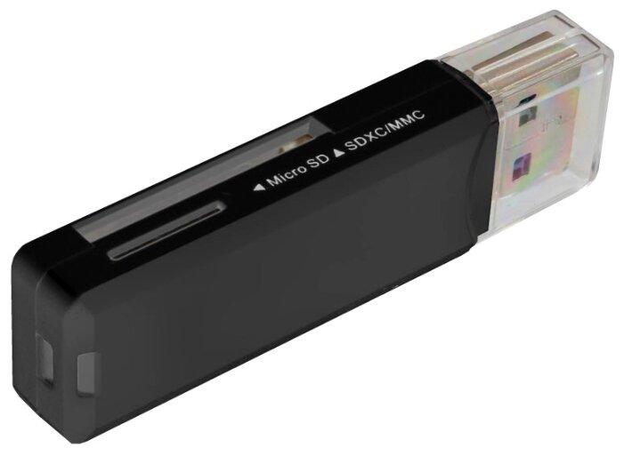 Картридер Ginzzu GR-311B с интерфейсом USB 3.0, SD/SDXC/SDHC/MMC microSD/SDXC/SDHС, черный, блистер