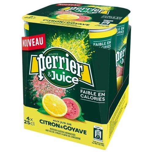 Газированный напиток Perrier лимон и гуава, 0.25 л, 4 шт.