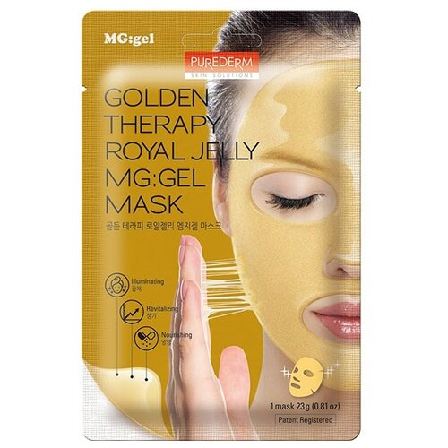 Purederm Гидрогелевая маска Golden Therapy Royal Jelly MG: Gel Mask, 23 г purederm