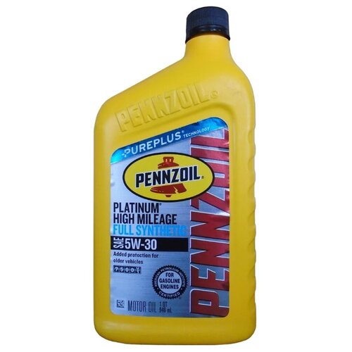 Фото - Моторное масло Pennzoil Platinum High Mileage Full Synthetic Motor Oil 5W-30 0.946 л моторное масло pennzoil gold synthetic blend sae 5w 30 0 946 л