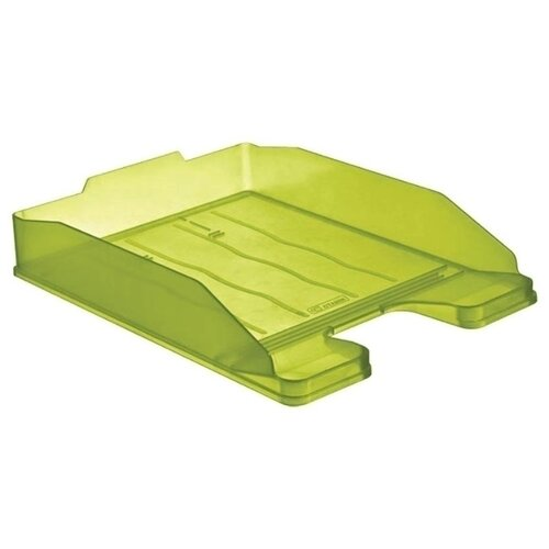 Купить Лоток горизонтальный для бумаги СТАММ Эксперт тонированный зеленый лайм, Лотки для бумаги