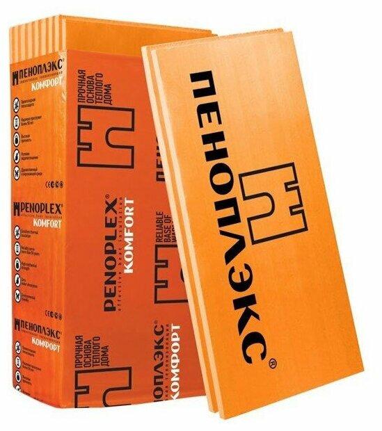 Экструдированный пенополистирол (XPS) ПЕНОПЛЭКС Комфорт 118.5х58.5см 40мм — купить по выгодной цене на Яндекс.Маркете