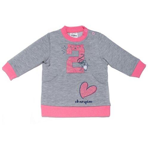 Купить Свитшот Viva Baby размер 68, серый, Футболки и рубашки