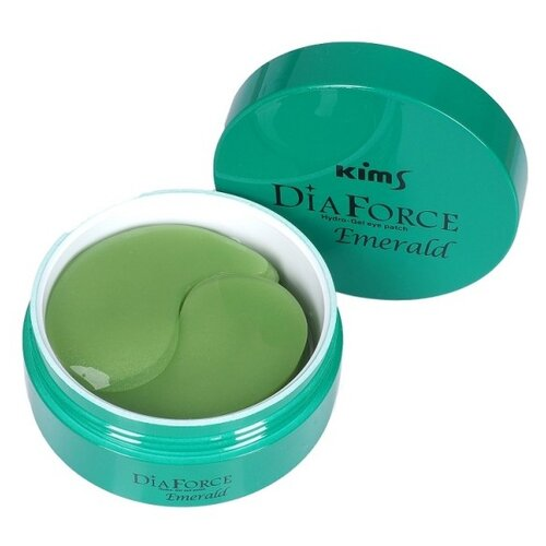 Kims Гидрогелевые патчи Dia Force Emerald Hydro-Gel Eye Patch, 60 шт.