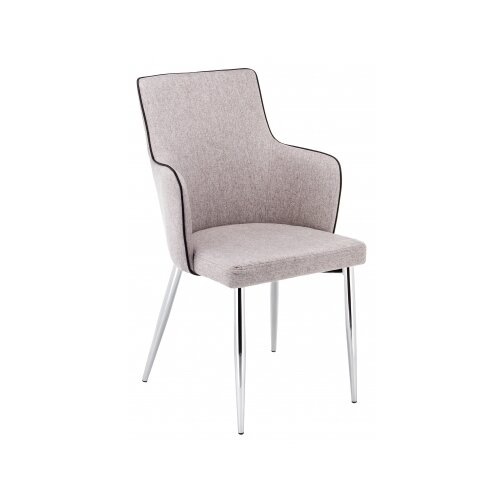 Стул Woodville Benza, металл/текстиль, цвет: бежевый стул woodville dodo металл текстиль цвет синий