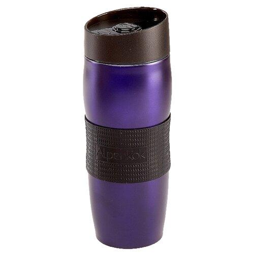Термокружка Alpenkok с силиконовой вставкой, 0.4 л фиолетовый