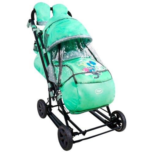 Санки-коляска Nika Ника Детям 8-3К (НД8-3К) мятный nika kids санки коляска ника детям умка 3 3 принт вязаный