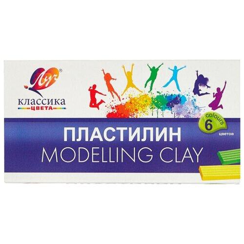Пластилин Луч Классика 6 цветов (12С878-08) набор пластилина луч классика 6 цветов 12с878 08 со стеком