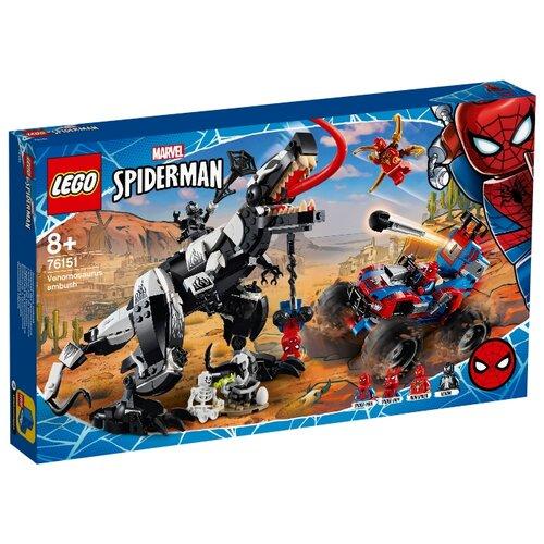 Купить Конструктор LEGO Marvel Super Heroes 76151 Spiderman Человек-Паук: Засада на веномозавра, Конструкторы