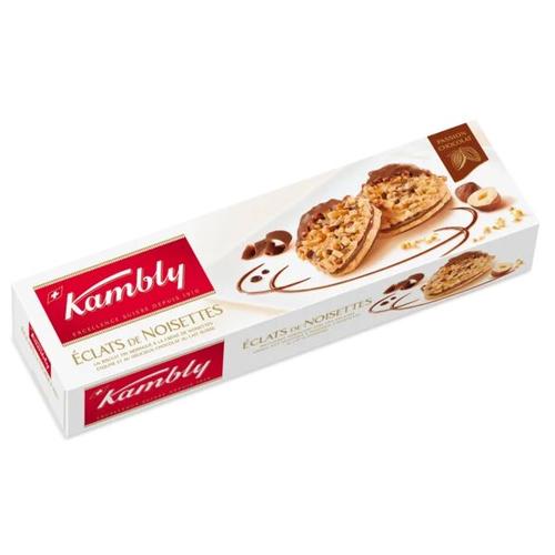 Печенье Kambly Eclats de noisettes с кремом из фундука и шоколадом, 100 г lambertz world cookies munich печенье с шоколадом 100 г