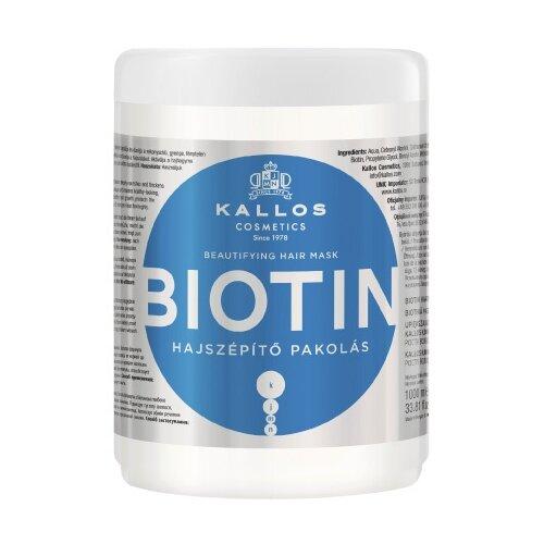 Kallos KJMN Маска с биотином для улучшения роста волос Biotin, 1000 мл