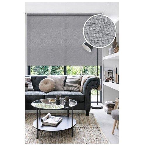 Рулонная штора Эскар Морзе (серый), 140х160 см рулонная штора эскар морзе экрю 140х160 см