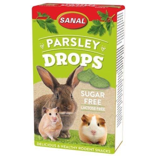 Лакомство для кроликов, грызунов SANAL Parsley Drops sugar free с петрушкой, без сахара и лактозы 45 г