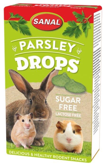 Лакомство для кроликов, грызунов SANAL Parsley Drops sugar free с петрушкой, без сахара и лактозы