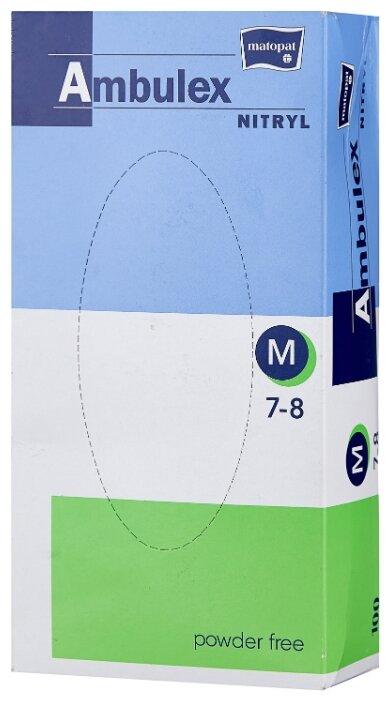 Перчатки смотровые Matopat Ambulex Nitryl