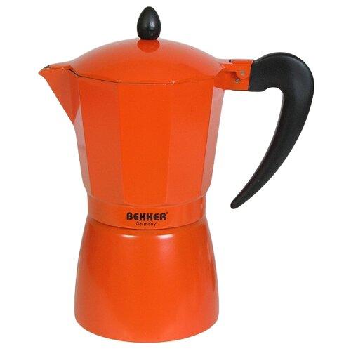 Гейзерная кофеварка Bekker BK-9353 (450 мл), коралловый