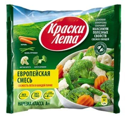 Краски Лета Европейская смесь овощная замороженная 400 г