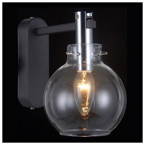 Настенный светильник Natali Kovaltseva Sphere 81021-1W Matt Black, 40 Вт бра natali kovaltseva 10783 1w florence white