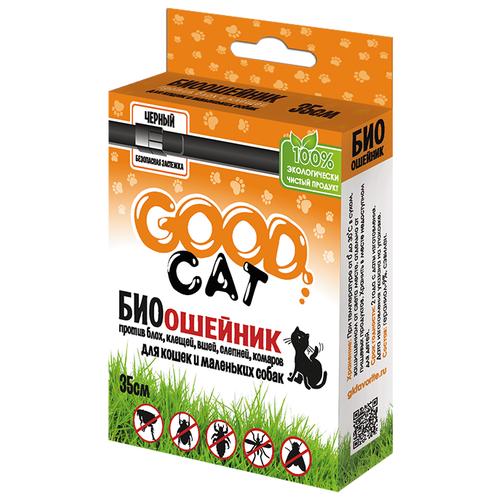 GOOD Cat ошейник от блох и клещей антипаразитарный для собак и кошек, 35 см, черный по цене 115