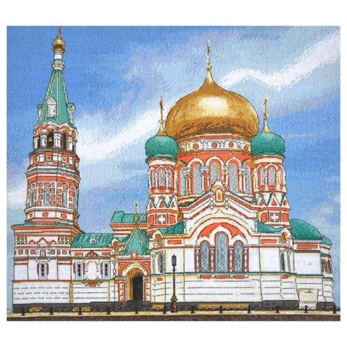 Hobby & Pro Набор для вышивания Успенский собор г. Омск 45 х 41 см (961)