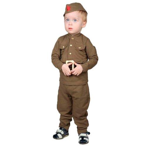 Купить Костюм Страна Карнавалия Военный (3270105-3270107), зеленый, размер 92, Карнавальные костюмы