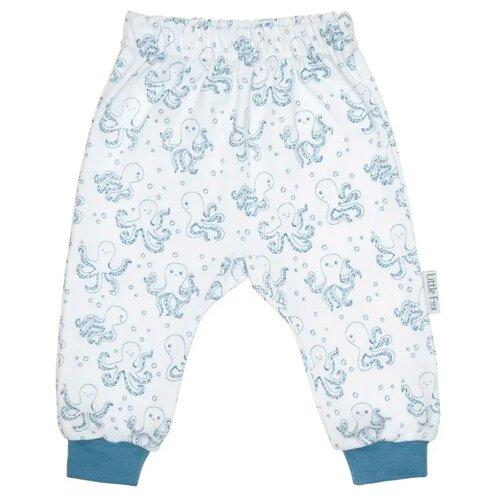 цена на Брюки Little Fox 1LF3SYL03 размер 86, белый/голубой