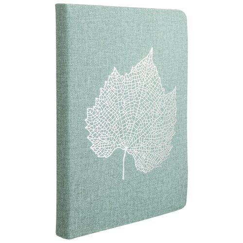 Ежедневник Index Leaf недатированный, искусственная кожа, А5, 168 листов, мятный