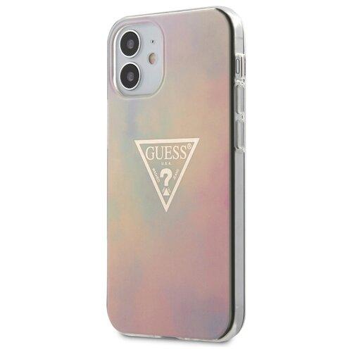 Чехол Guess для iPhone 12 mini (5.4) PC/TPU TIE & DYE Hard Pink