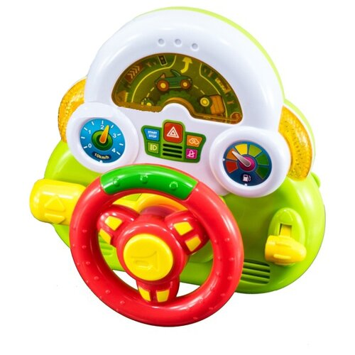 Развивающая игрушка Наша игрушка Мини руль зеленый игрушка наша игрушка бульдозер 6655 5