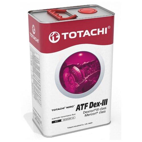 Трансмиссионное масло TOTACHI NIRO ATF Dex-III 4 л трансмиссионное масло totachi atf ws 1 л 1 кг